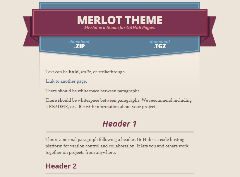 Merlot theme - a Jekyll theme for GitHub Pages