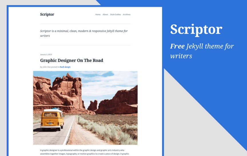 A minimal, clean, modern and responsive Jekyll theme for writers