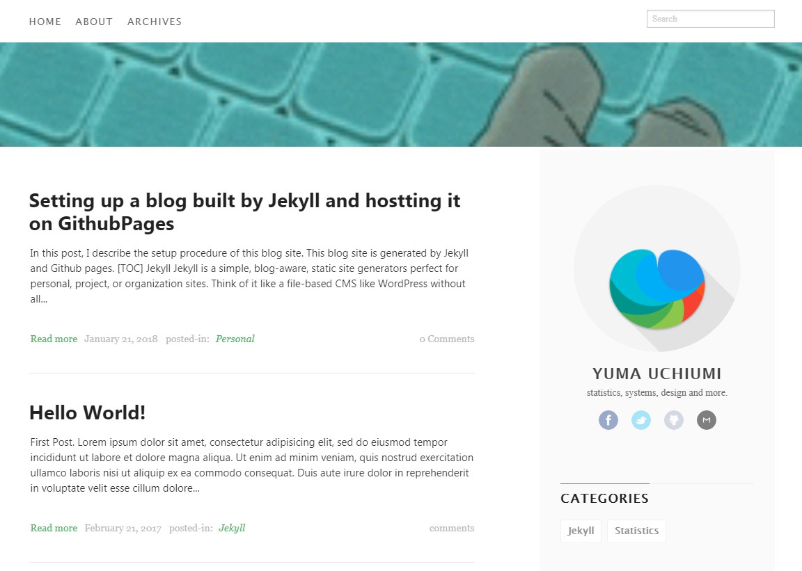 Yumaloop blog with jekyll